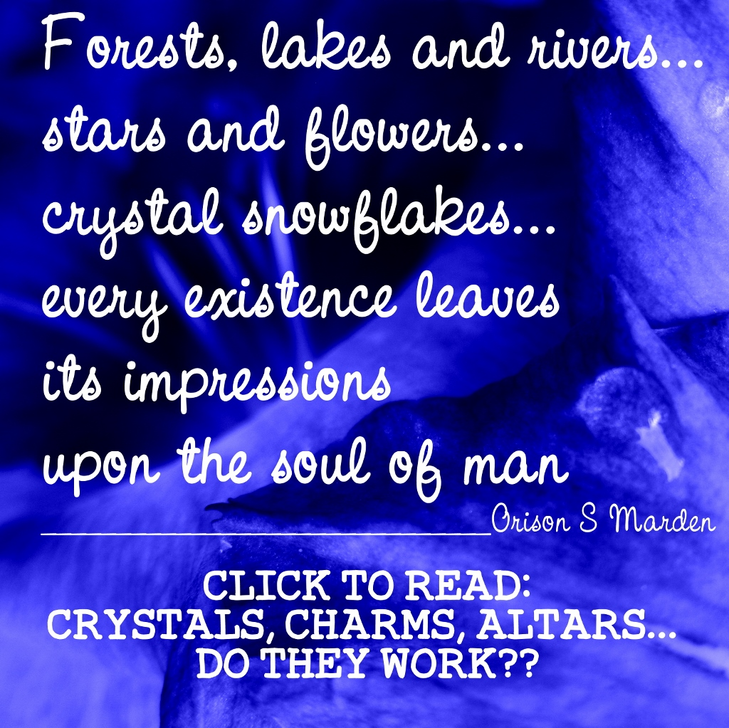 Crystals, charms, altars... do they work??