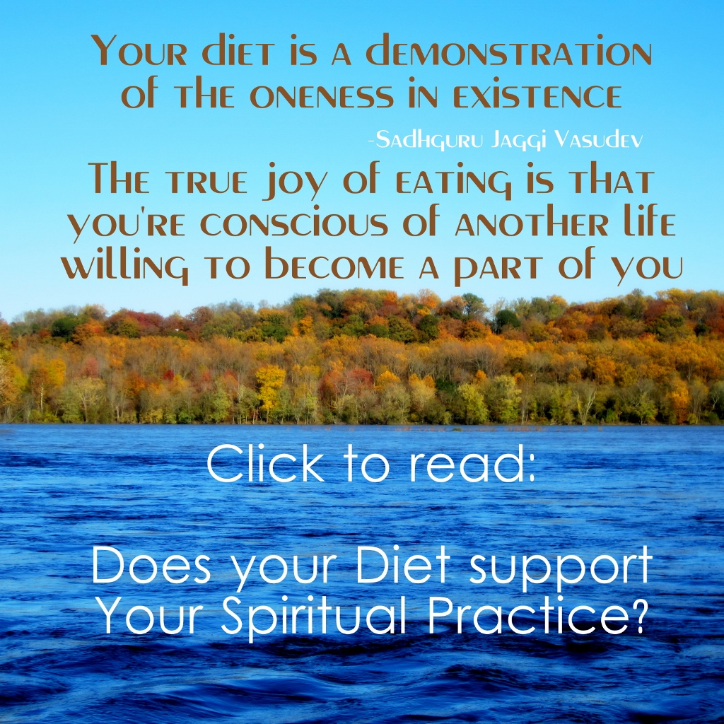 Does your Diet support your Spiritual Practice?