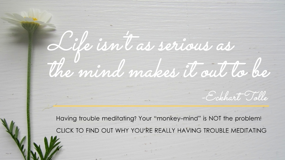 Having trouble meditating? Your monkey-mind is NOT the problem!